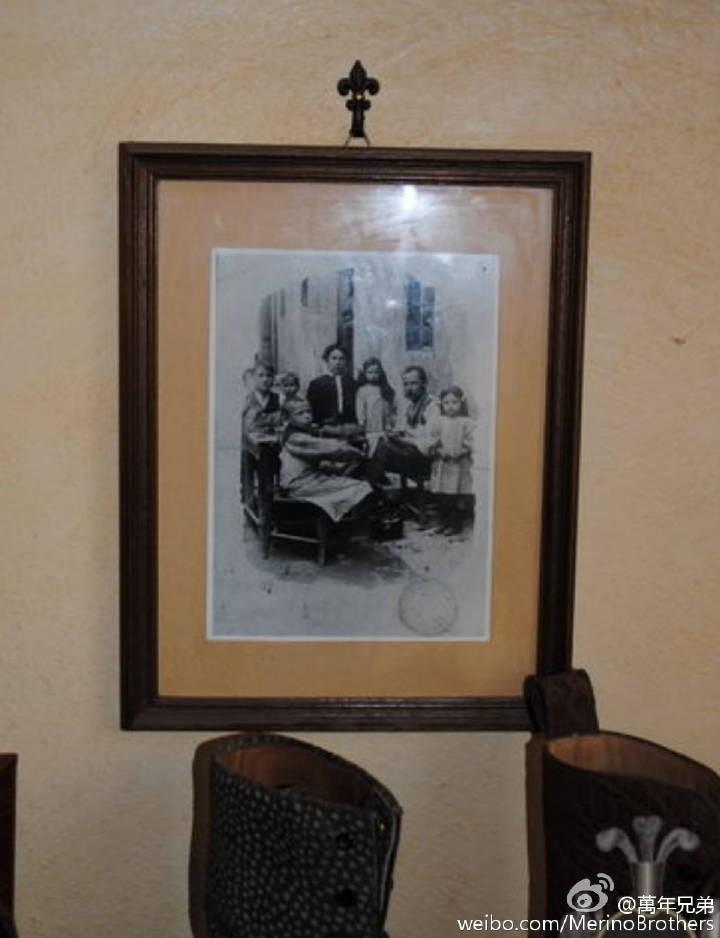 图中是Roberto Ugolini的祖父,当年已是制鞋匠人